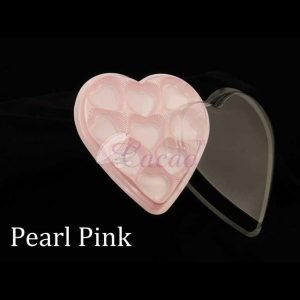 9 Cavity Heart Box Pink  Pack of 10