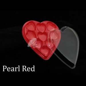 9 Cavity Heart Box Red Pack of 10