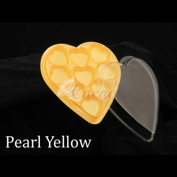 9 Cavity Heart Box Yellow Pack of 10