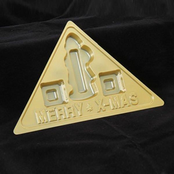 Xmas Triangle Box Tray Pack of 10
