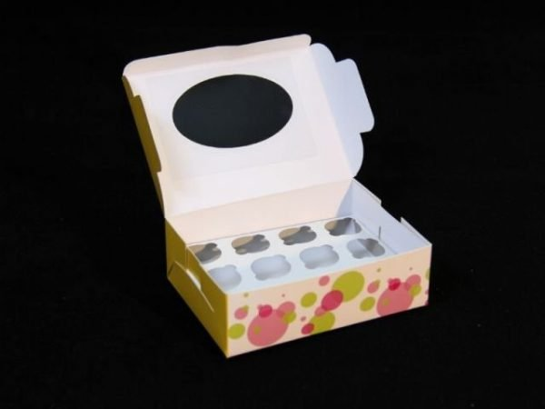 12 Pc Cupcake Paper Box Pack of 10
