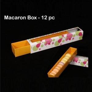 12 Pcs macaron long Paper Box Pack of 10