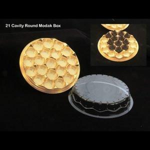 21 Cavity Round Modak Box Pack of 10