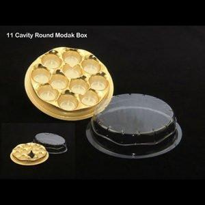 11 Cavity Round Modak Box Pack of 10