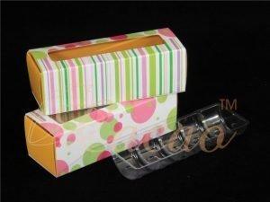 5 Macaron Box + Tray Pack of 10