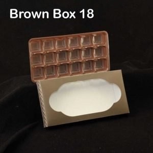 Brown Box Tray 18 Pack of 10