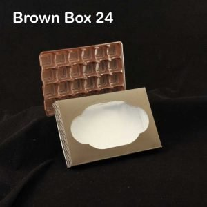 Brown Box Tray 24 Pack of 10