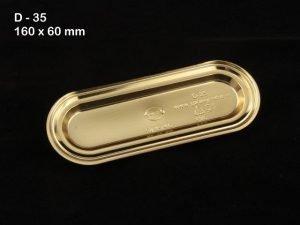 Metallic D35 Eclair Tray Pack of 100