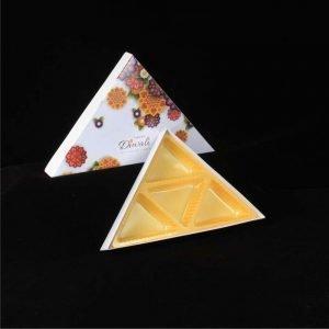 Diwali Box Triangle 4 Cav. Pack of 10