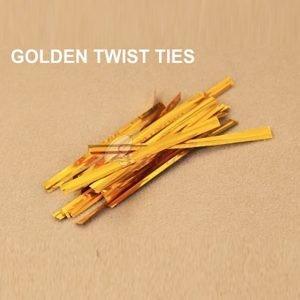 Golden Twist Tie pack of 400