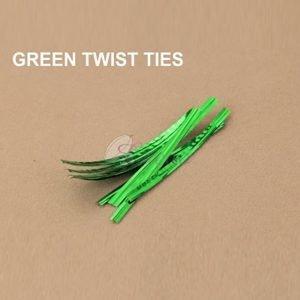 Green Twist Tie pack of 400