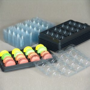 16 macaron Tray & Cover Pack of 25