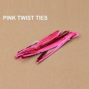 Pink Twist Tie pack of 400