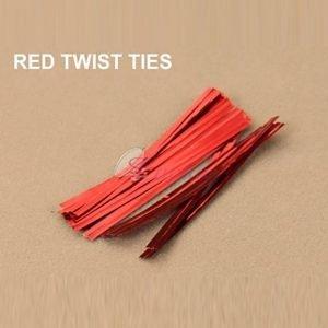 Red Twist Tie pack of 400