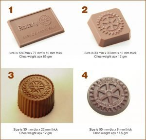 Cacao Professional Mould Set of 4- Rotary Club
