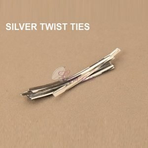 Silver Twist Tie pack of 400