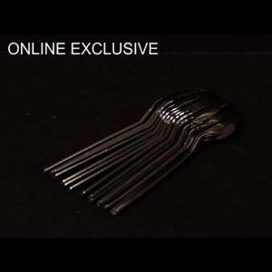 Black Spoon Large pack of 50